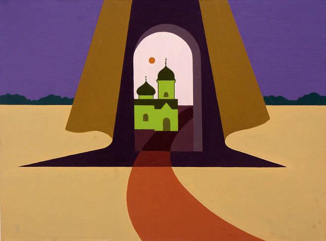 Пизанская башня глазами нетрезвого человека. 65х90 холст, масло.
