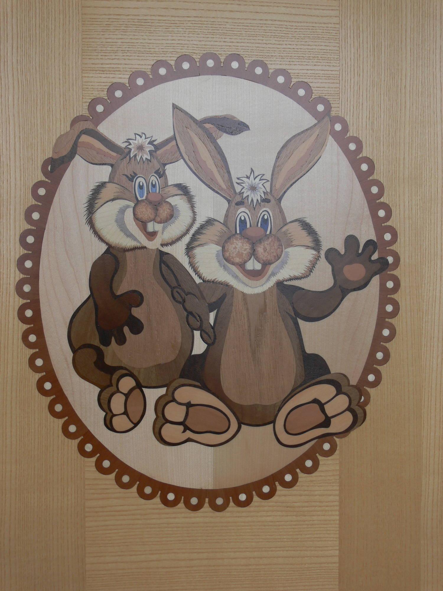 Фрагмент оформления двери в детскую комнату