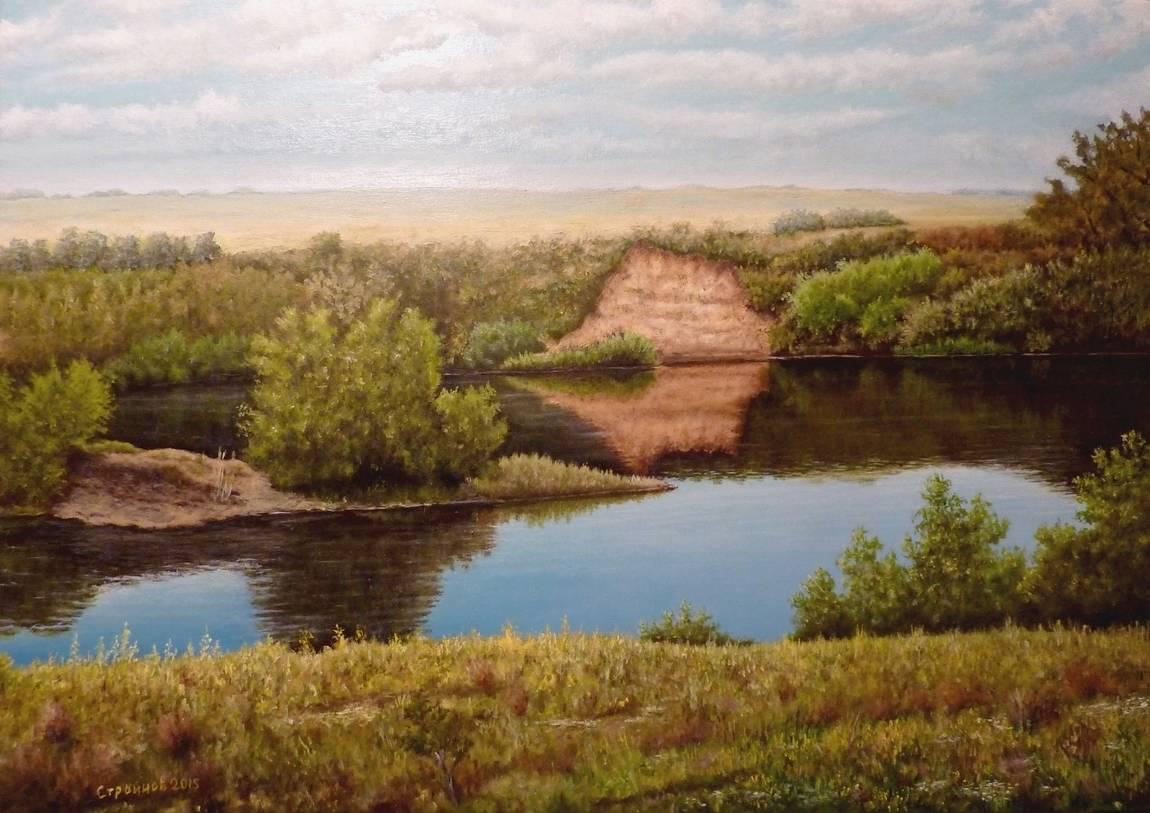 """ Степная река."" холст, масло 70х100 см."