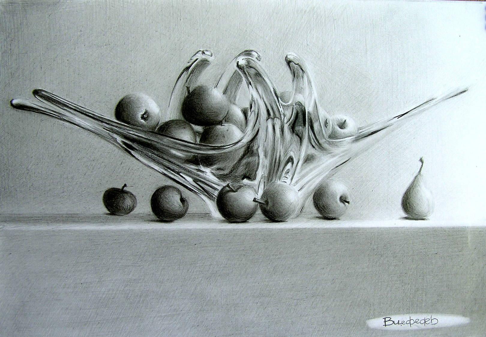 Хрустально-фруктовый натюрморт