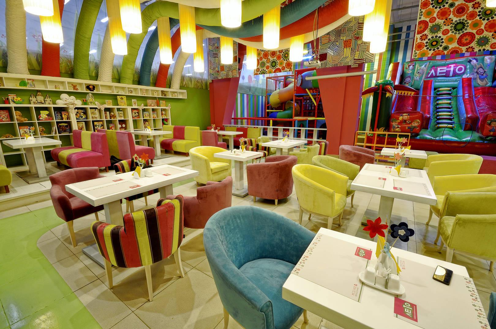 Дизайн детского кафе Лето в Перми от ALLARTSDESIGN