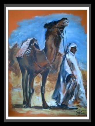 Бедуин.40х60. холст.акрил