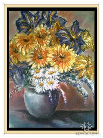 Цветы, 30х40 (пастель сухая)