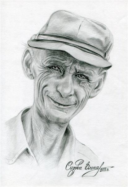 портрет, выполнен по фото Ю.Мельникова