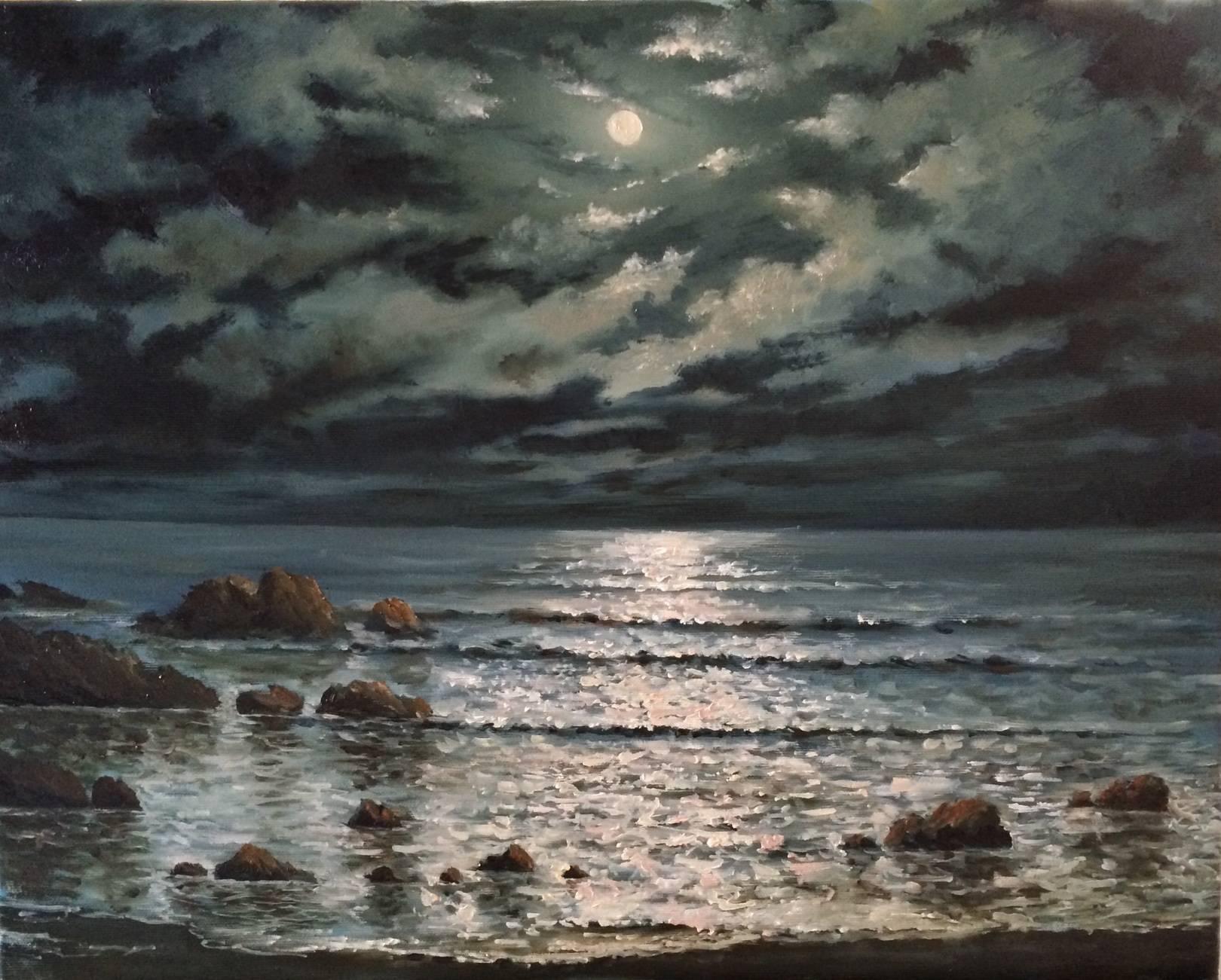 """Лунный свет"""" холст масло, 40х50"""