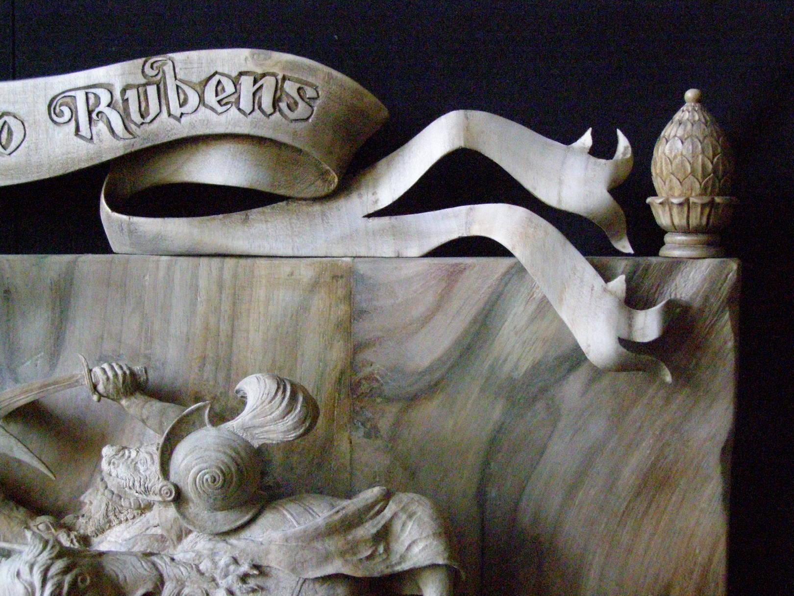 Name : Dedication to Rubens wood :  Walnut. dimensions : 56см х 40см х 9см (gragment...).