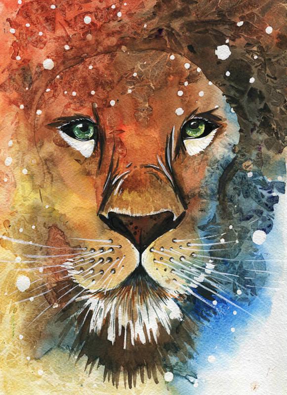 Leo. Watercolor. А4