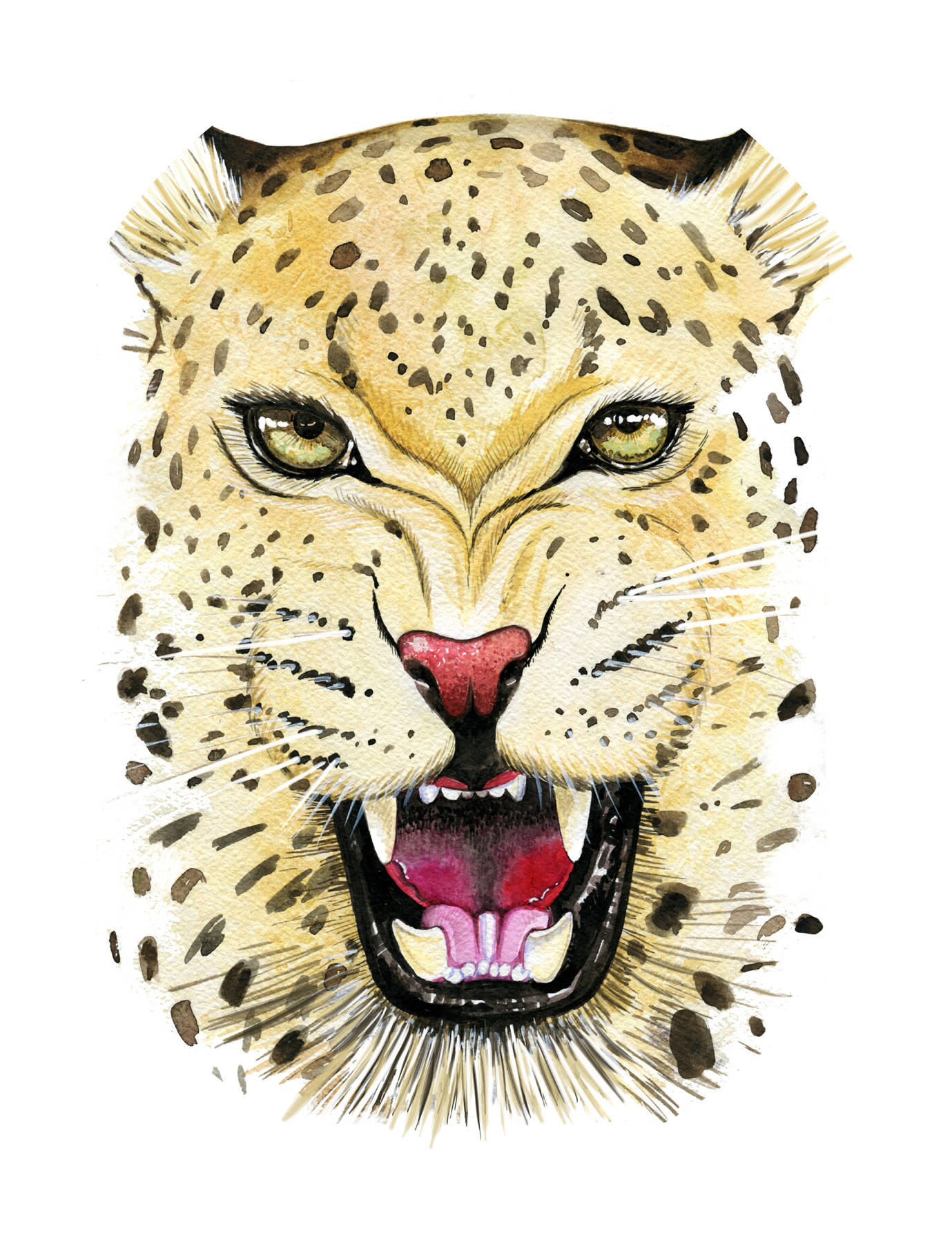 Leopard. Watercolor A4