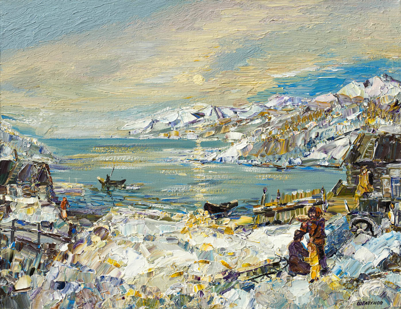 Alexander Sheltunov. At the Baikal 在贝加尔湖 2008 Oil on canvas 油画底布 50 × 65