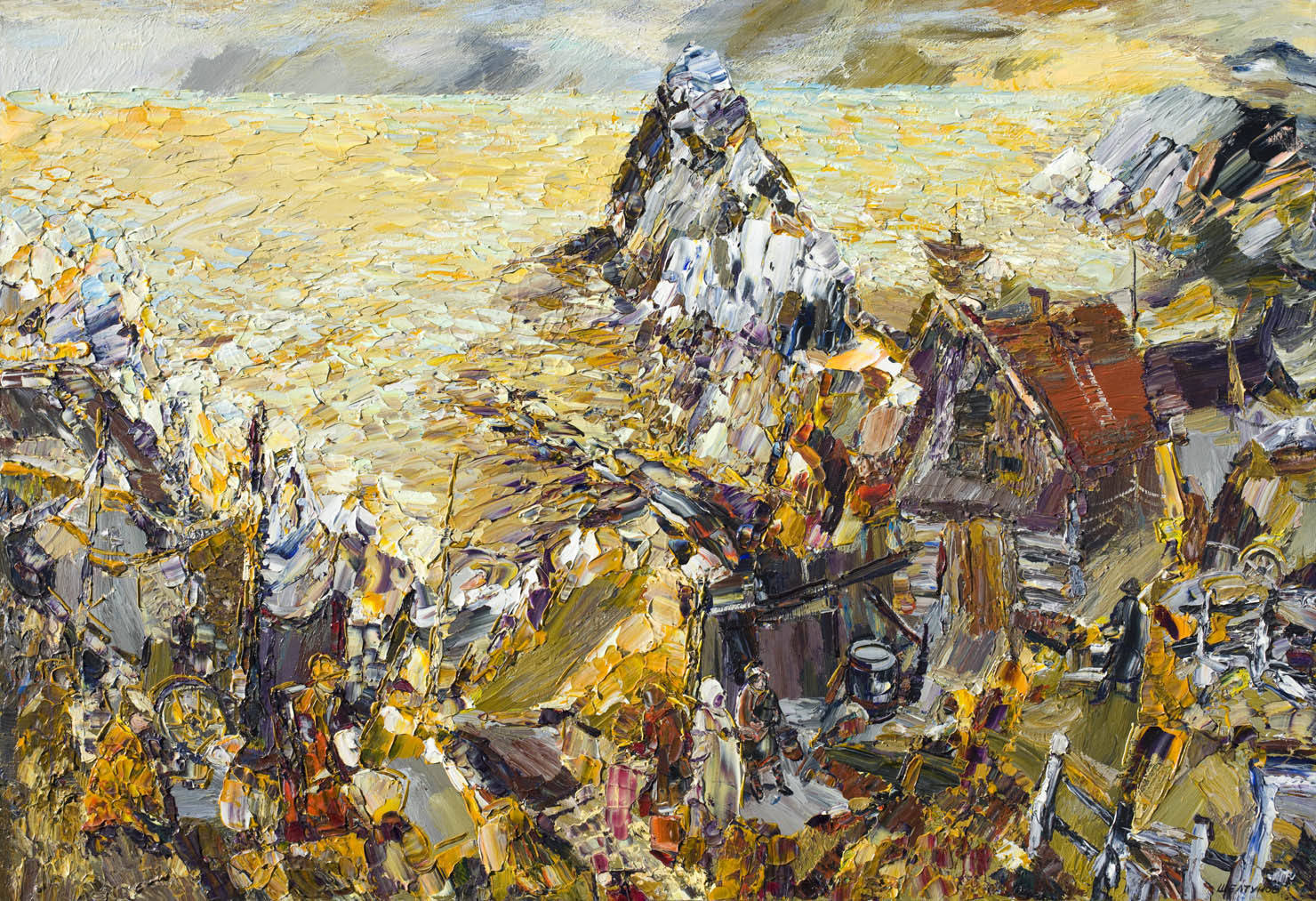 Alexander Sheltunov. On Olkhon 在奥利洪岛 2006 Oil on canvas 油画底布 89 × 130