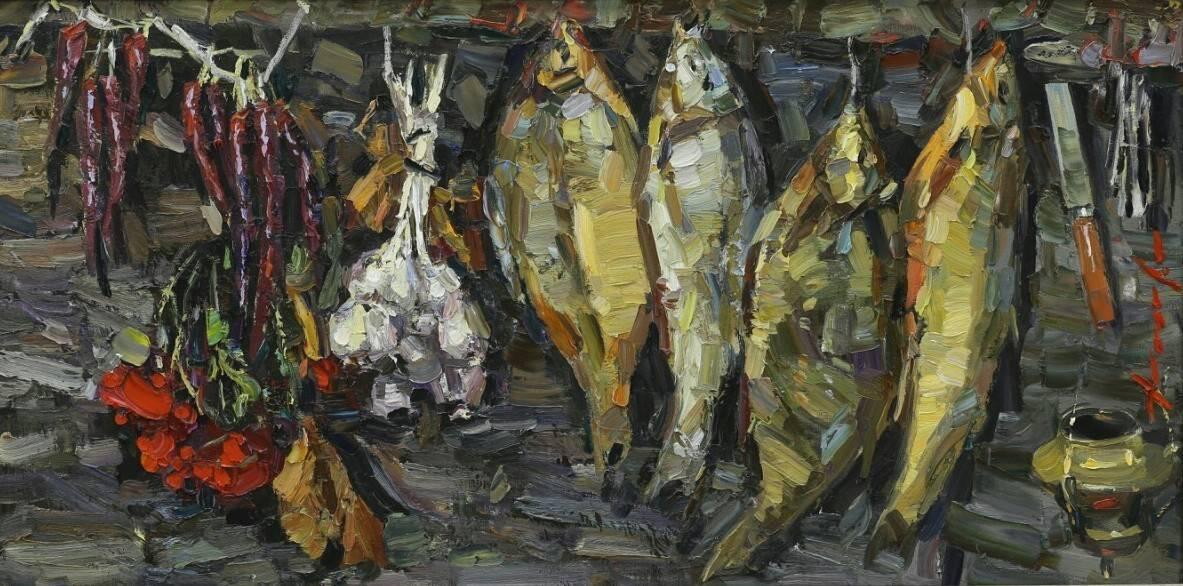 Рыба.х.м.70×140