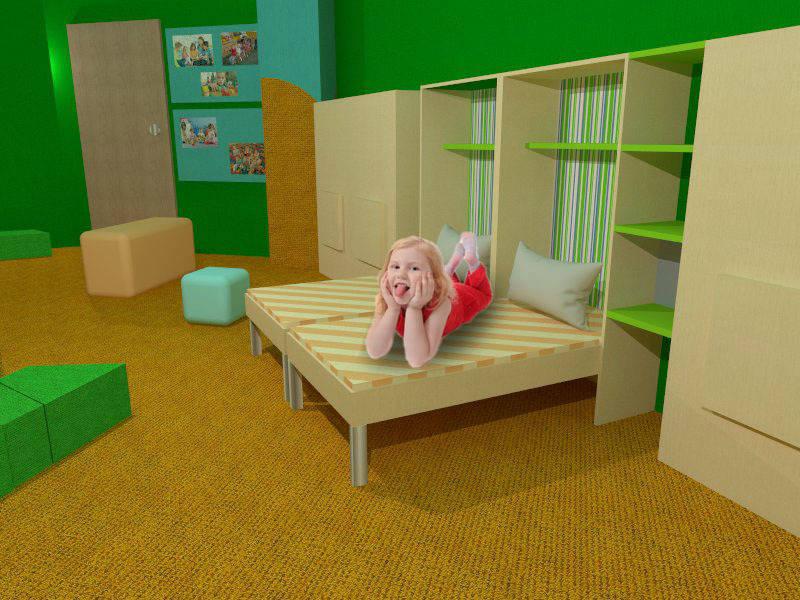 Выкидная кровать для детского сада