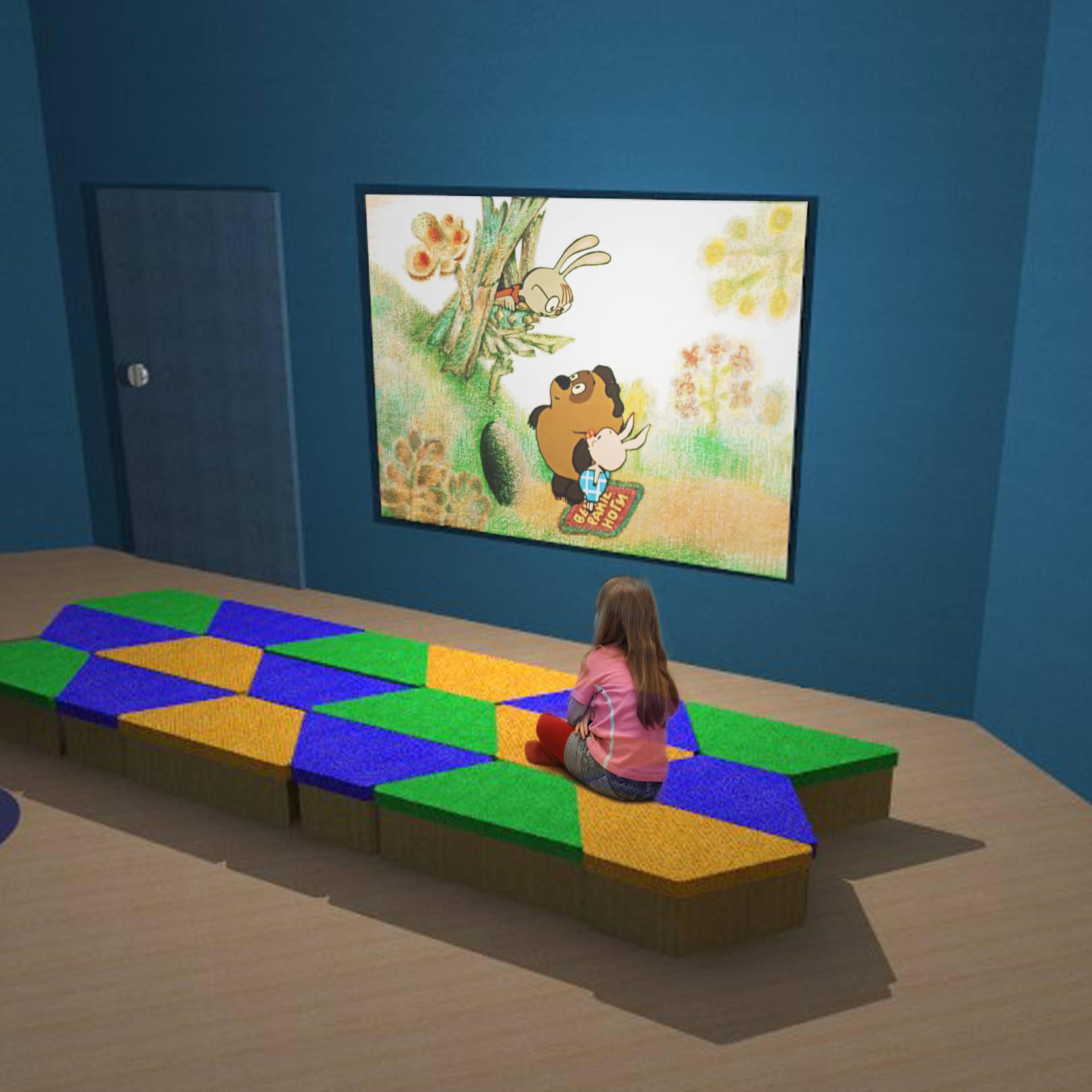 Кинотеатр с мобильной мебелью
