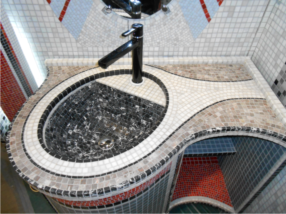 мозаичная столешница ( мраморная мозаика)