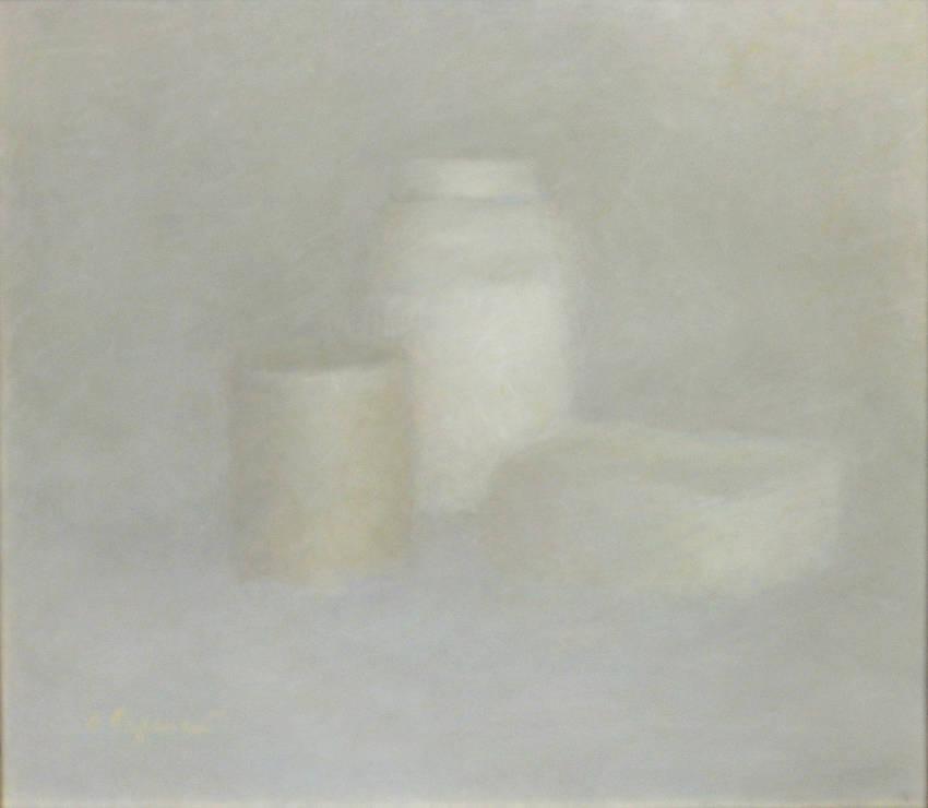 Белый натюрморт. 2007-2008. Бумага, Пастель. 38х52см.