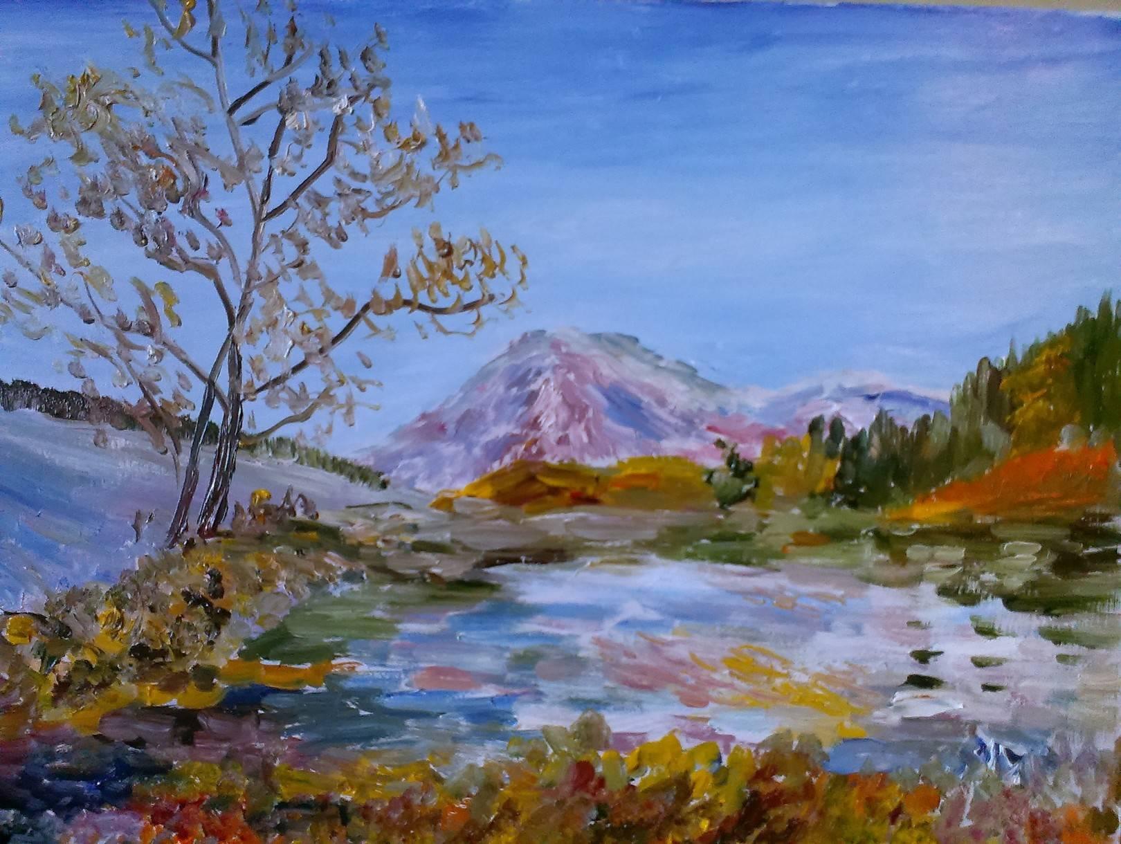 Речной пейзаж 3