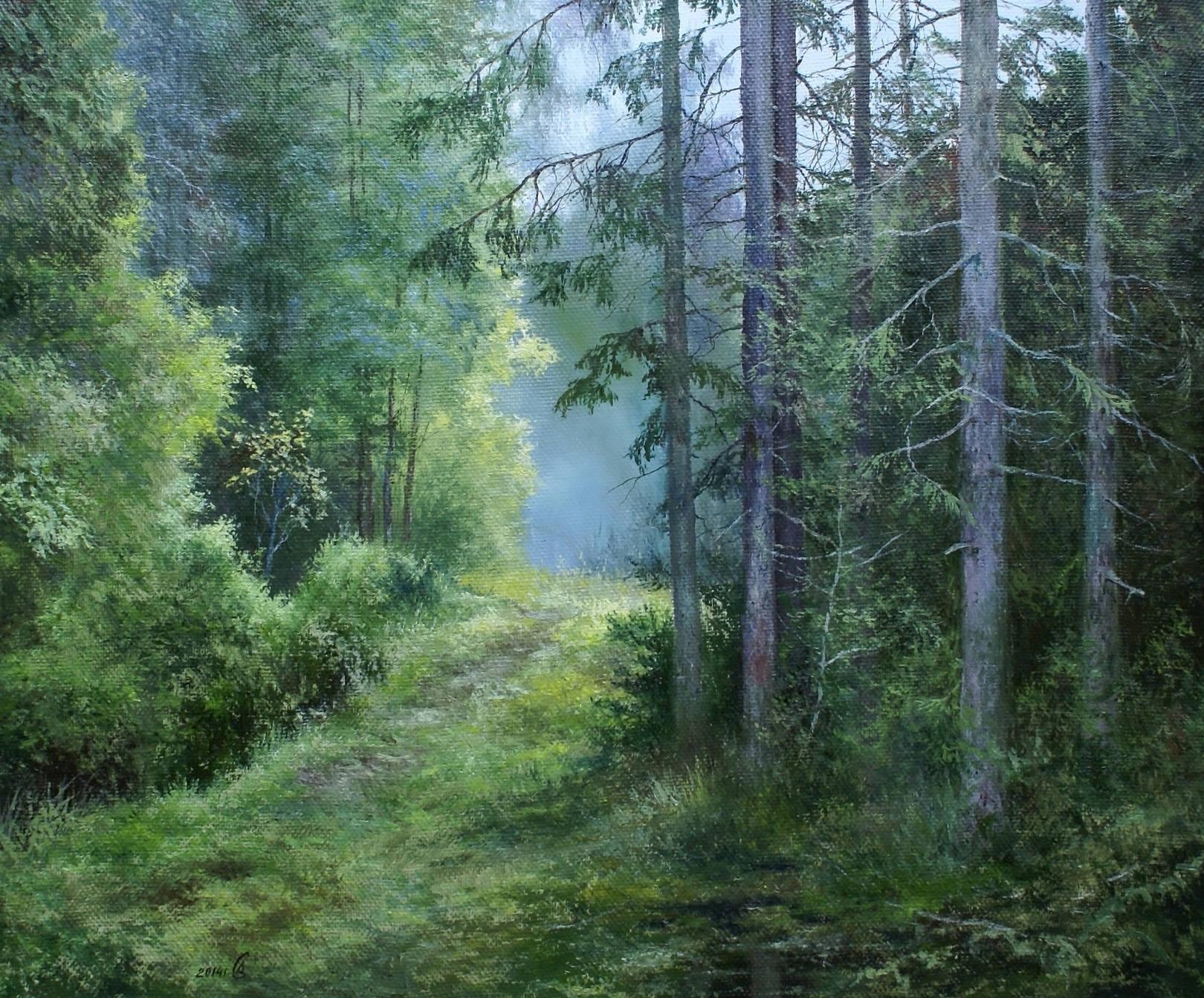 """""""Утренний туман"""" - х/м, 60х80"""