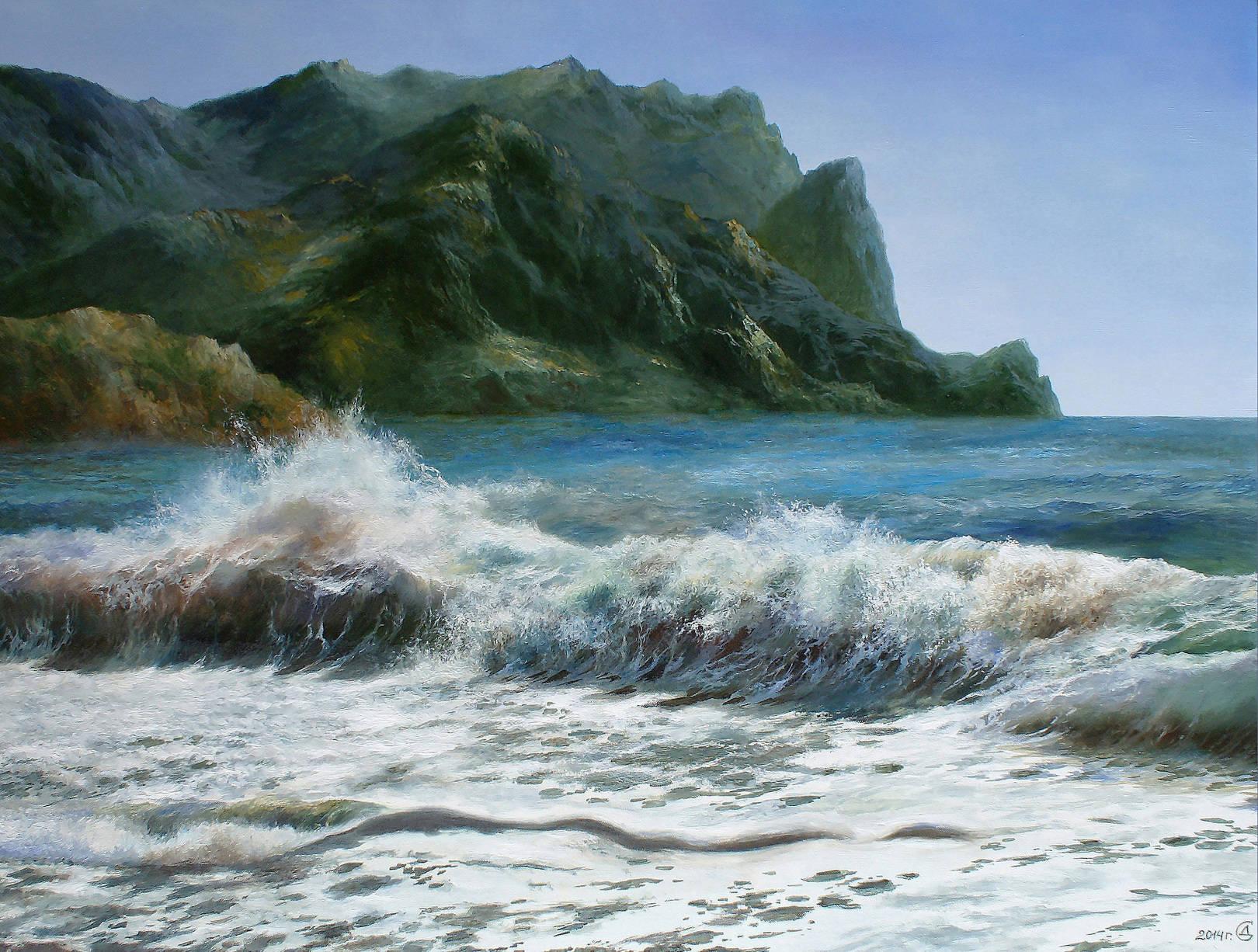 """""""Дыхание моря"""" - х/м, 60х80"""