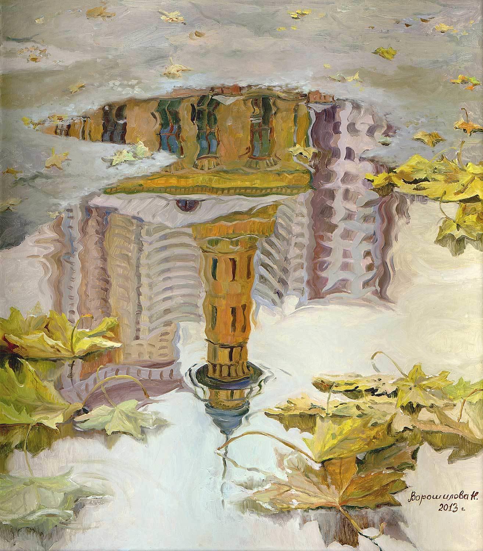 """Картина """"Отражение. Сокольники"""". Холст, масло, 80х70, 2013."""