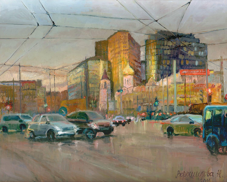 """Картина """"Тверская застава"""". Холст, масло, 80х100, 2011."""