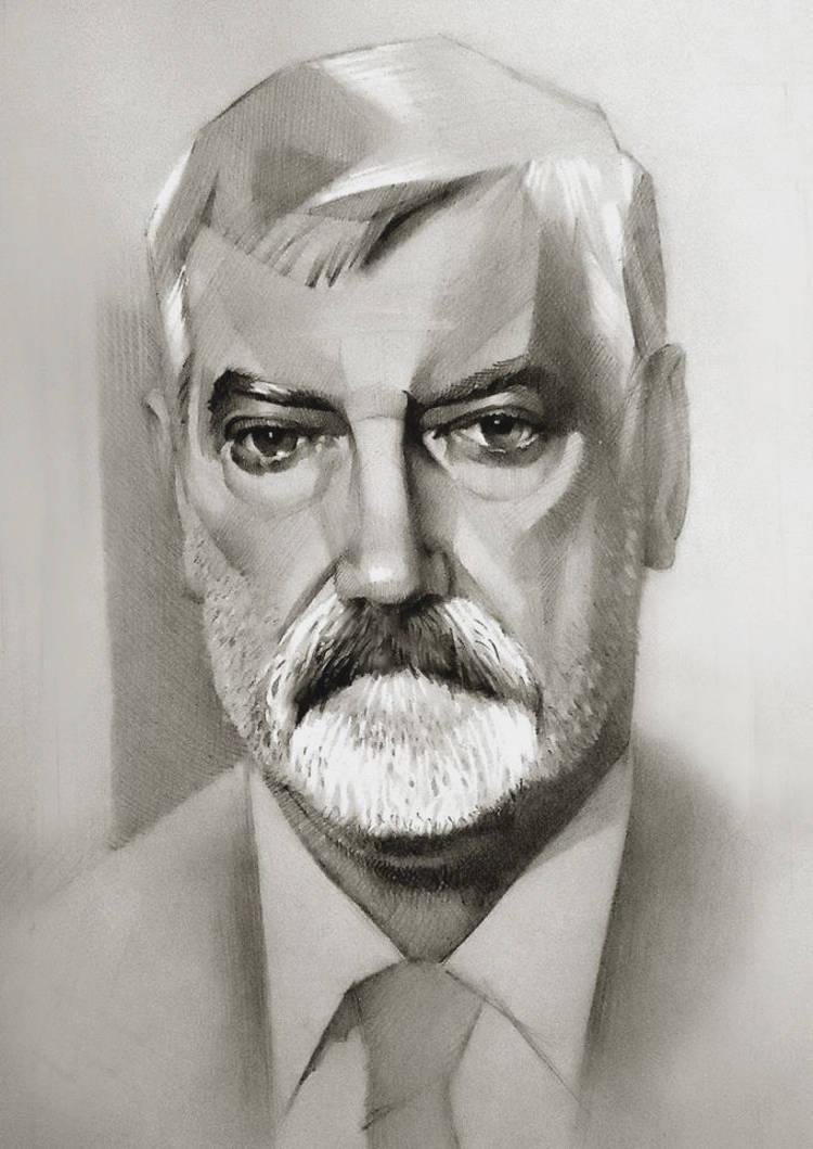 Портрет депутата Саэйма Латвии Сергея Мирского.Заказ портрета к юбилею.