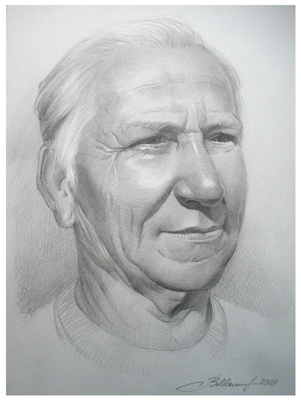 Портрет Станислава Сергеевича Хмелева,моего первого учителя по рисованию в средней школе.Спустя много лет исполнил работу в подарок.