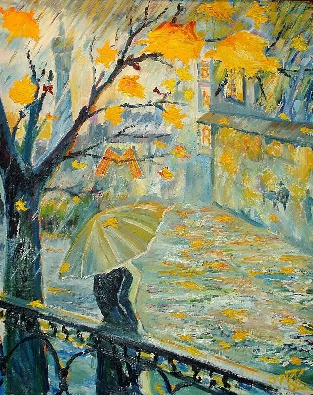 Московская осень. Оргалит,  масло, 50х40.  2007г.