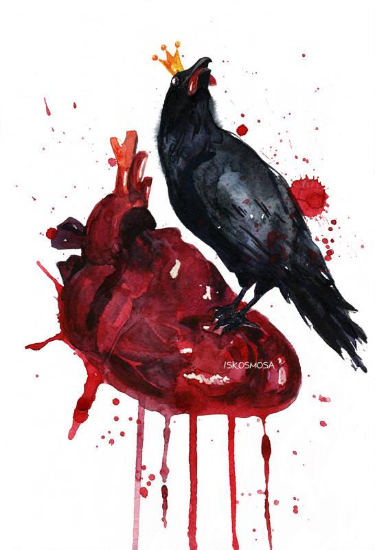 Hard love. Watercolor А4