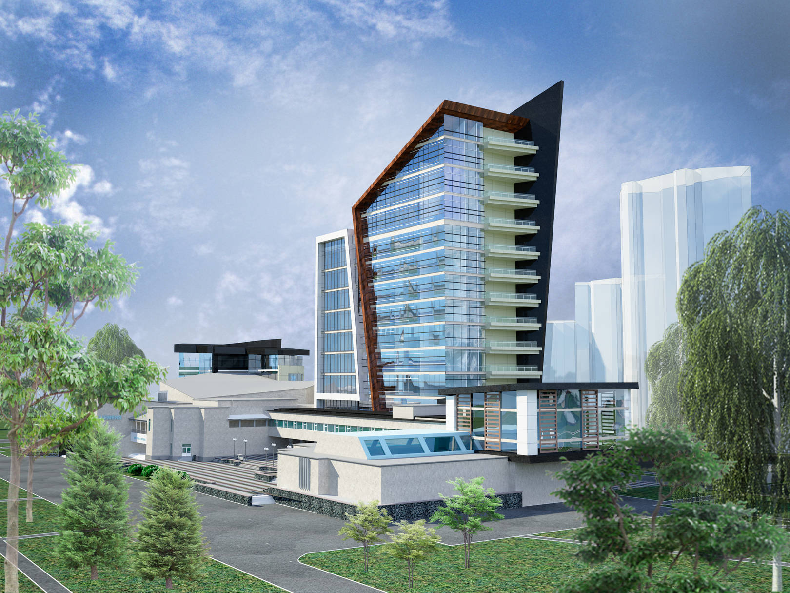 Эскизное предложение административного здания
