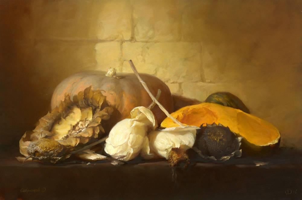 """Севрюков. """"Натюрморт"""". Холст, масло, 40-60см. 2010г. Частная коллекция."""