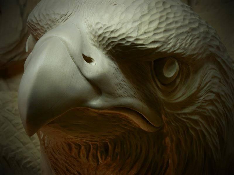 Орёл скульптура