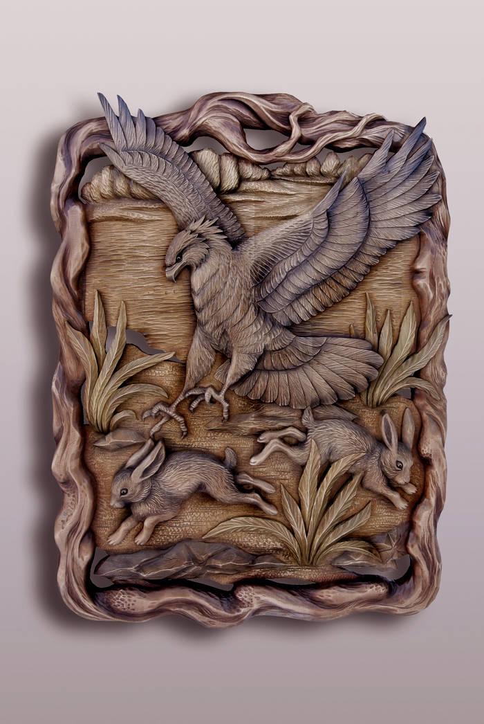 орёл и зайцы