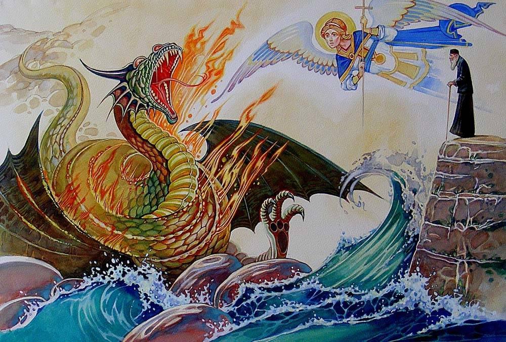 Иллюстрация св. Давид Гареджийский
