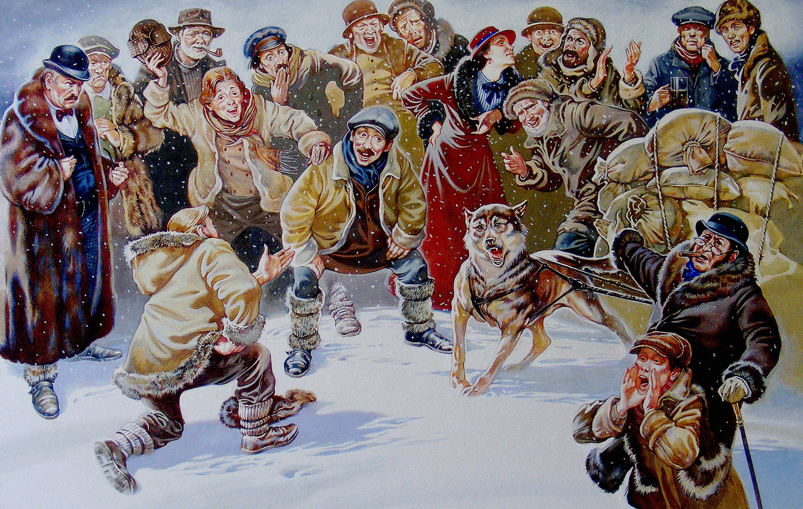 """Иллюстрация к произведению Джека Лондона """"Зов предков"""""""