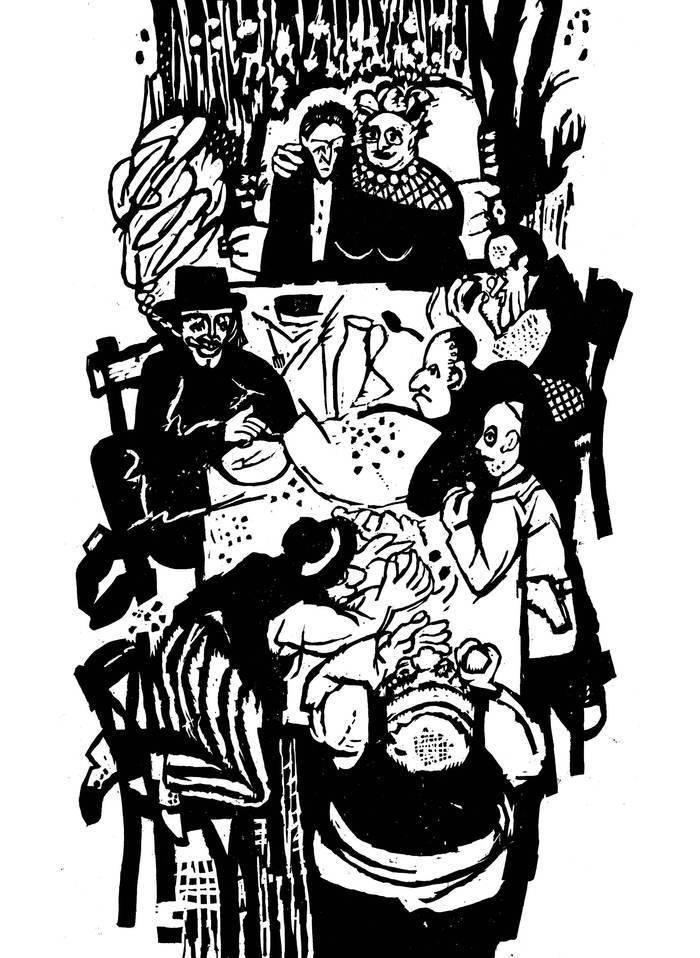 """Иллюстрации к """"Одесским рассказам"""" Исаака Бабеля"""