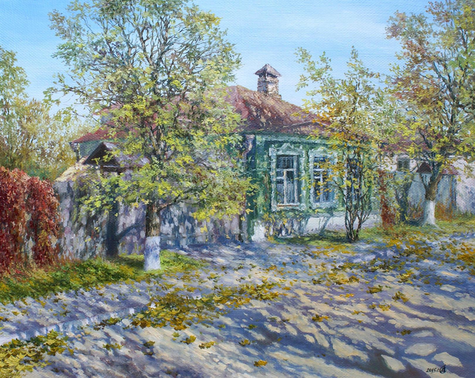 """Осенние кружева"" - х/м, 40х50"