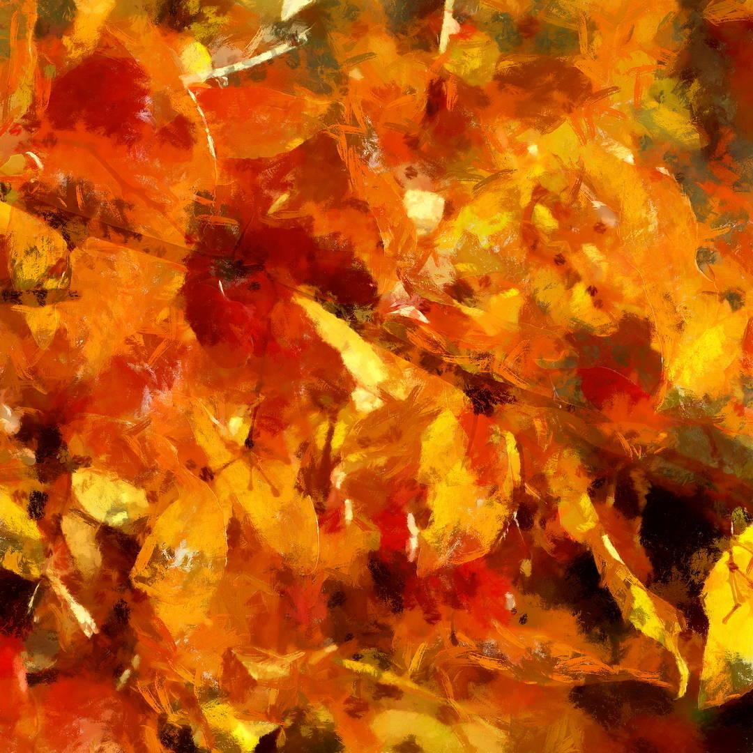 Осенний костёр. Компьютерная графика, цифровая печать, 2015г. Размер от 30х30см до 160х160см