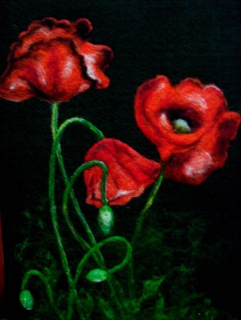 Сухое валяние (шерсть)  - Цветы