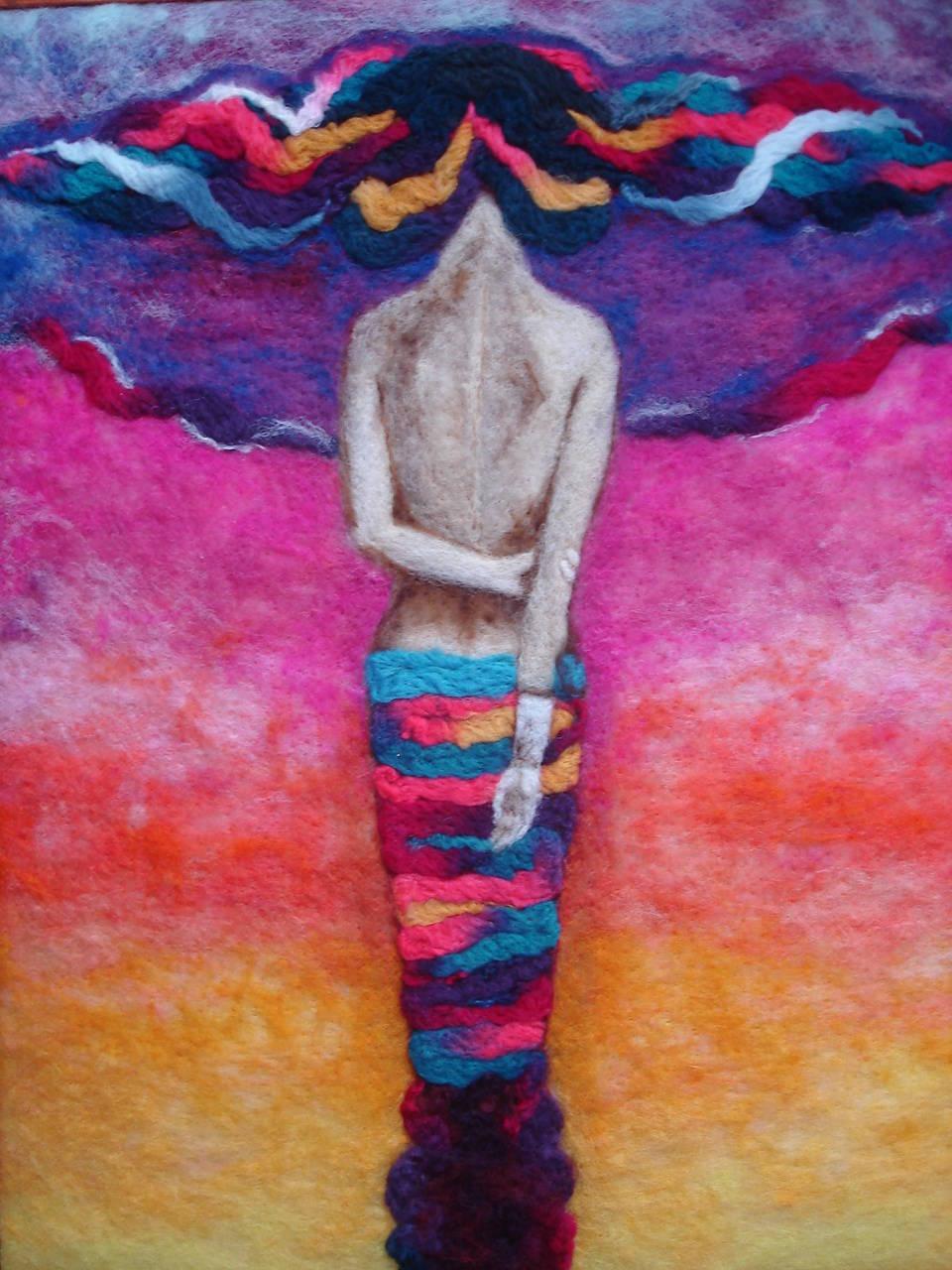 Сухое валяние (шерсть)  - Ангелы как люди-люди как ангелы