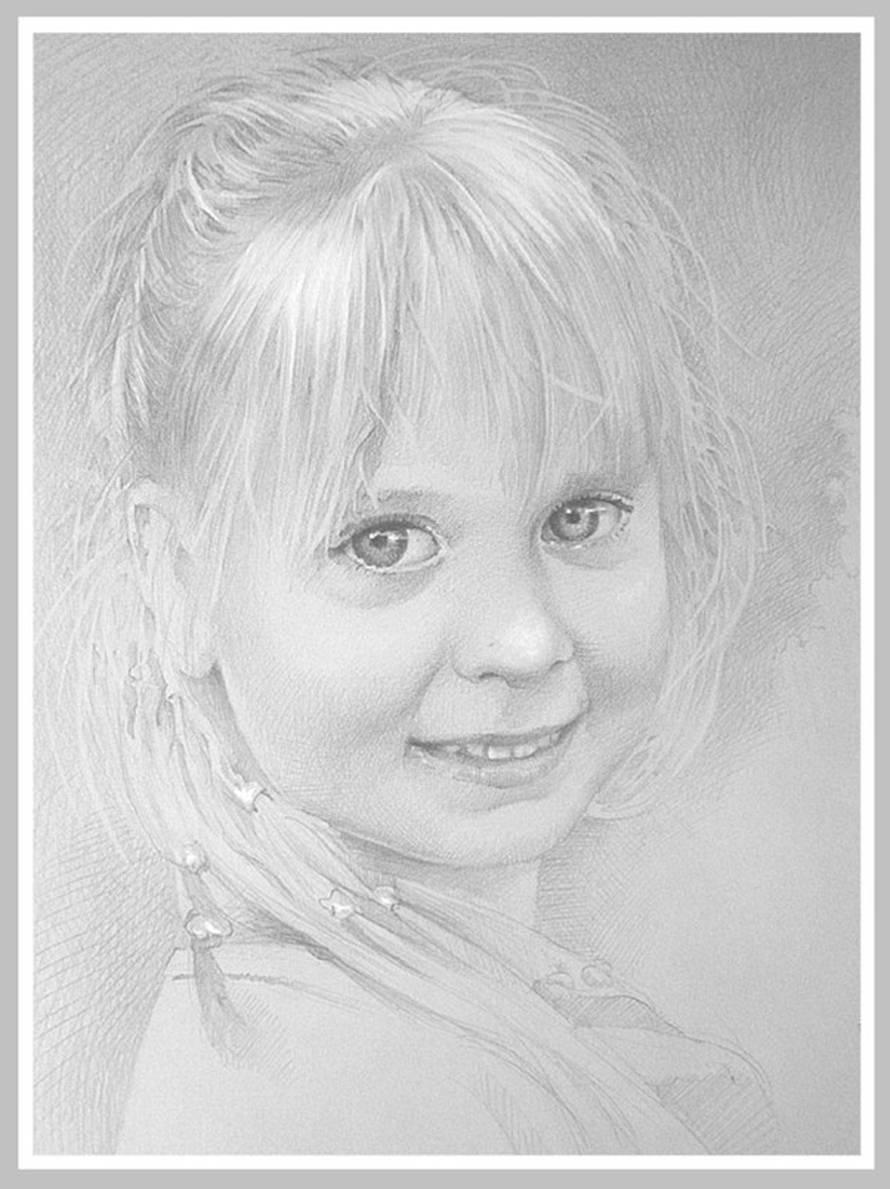 Портрет любимой внучки Анастасии.