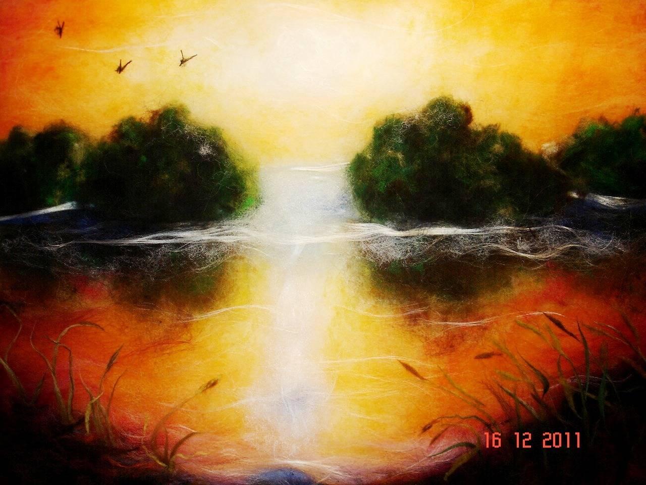 Шерстяная акварель -   У природы нет плохой погоды