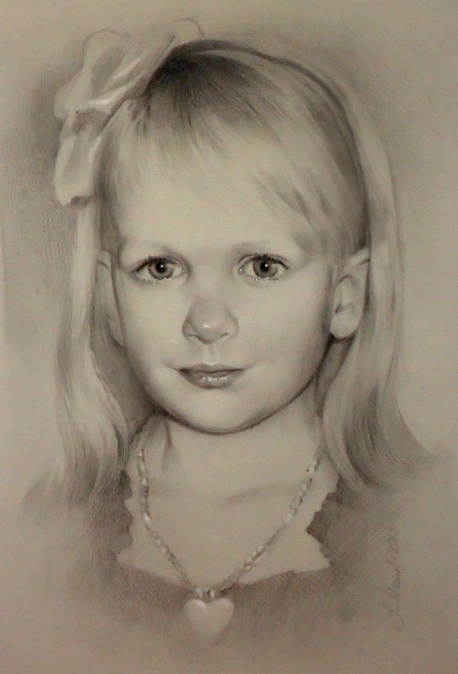 Портрет младшей внучки Софии.