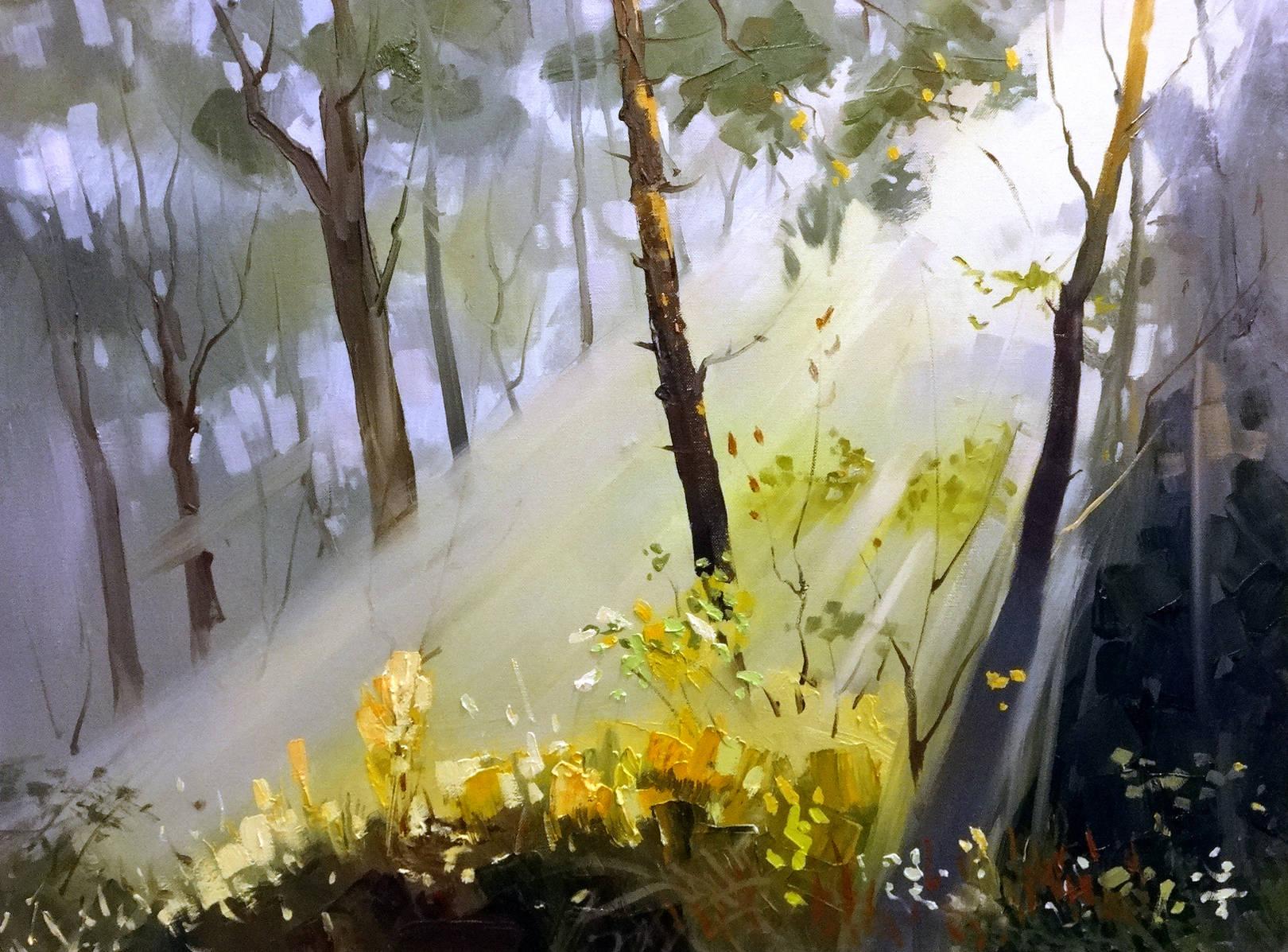,,Солнечный день в лесу,,холст,масло,60*80 см.Мой мастер-класс ученикам студии.