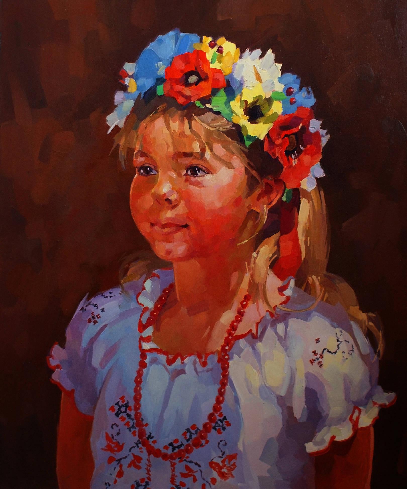 холст, масло, 55х45 портрет находится в частной коллекции в США