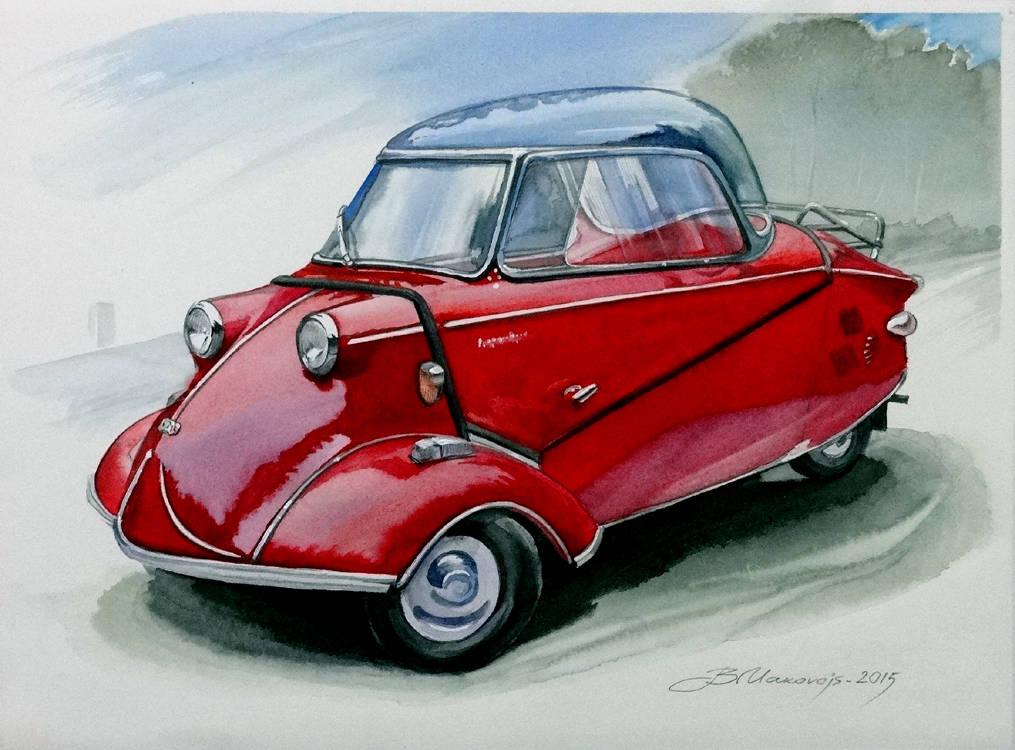 ,,Мессершмитт,,маленький автомобильчик,исполненный по заказу владельца этого раритета.