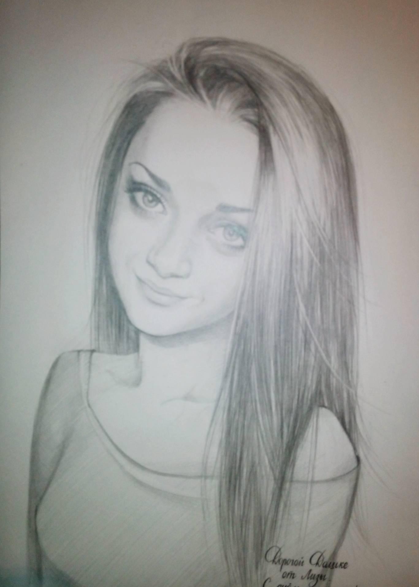 Портреты карандашом и живопись