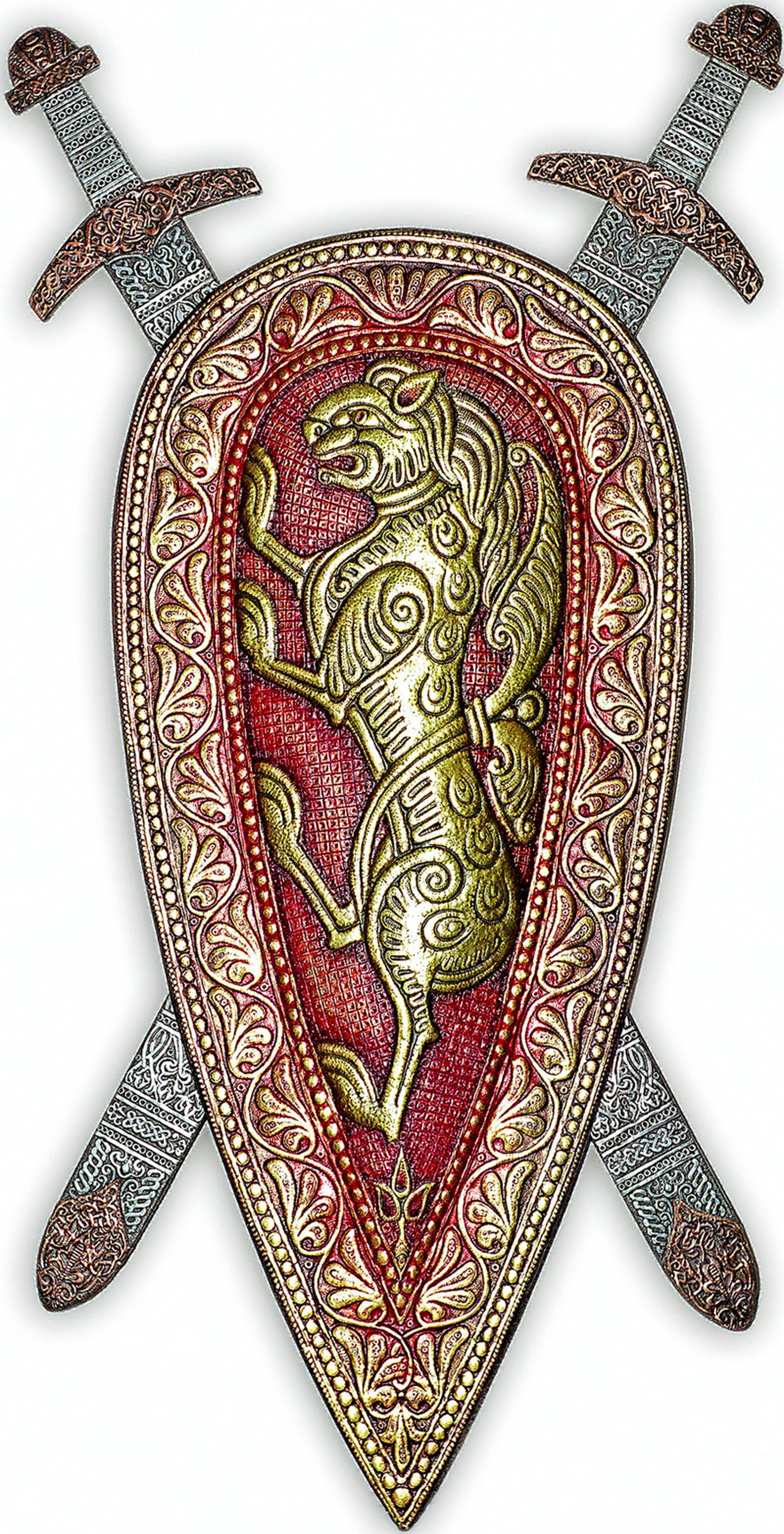 Картинки щит и меч русского богатыря в векторе