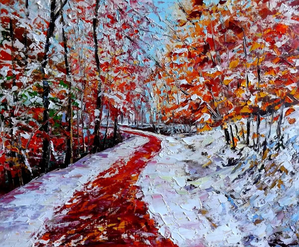 Первый снег.х.м.50х60.2015г.