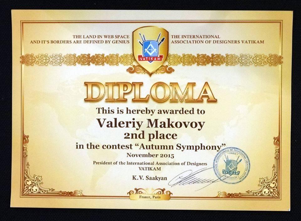 Благодарен администрации сайта,членам комиссии и лично Президенту,,Vatikam,,г.K.V.Saakyan,за оценку моих работ в конкурсе,,Осенняя симфония,,