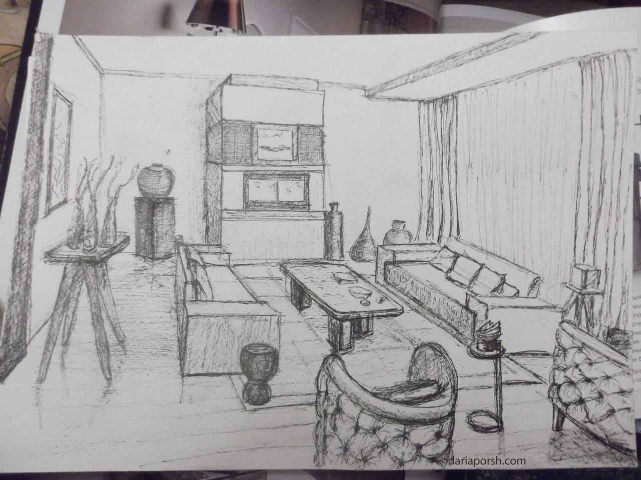 Interio sketch/ Интерьерные наброски
